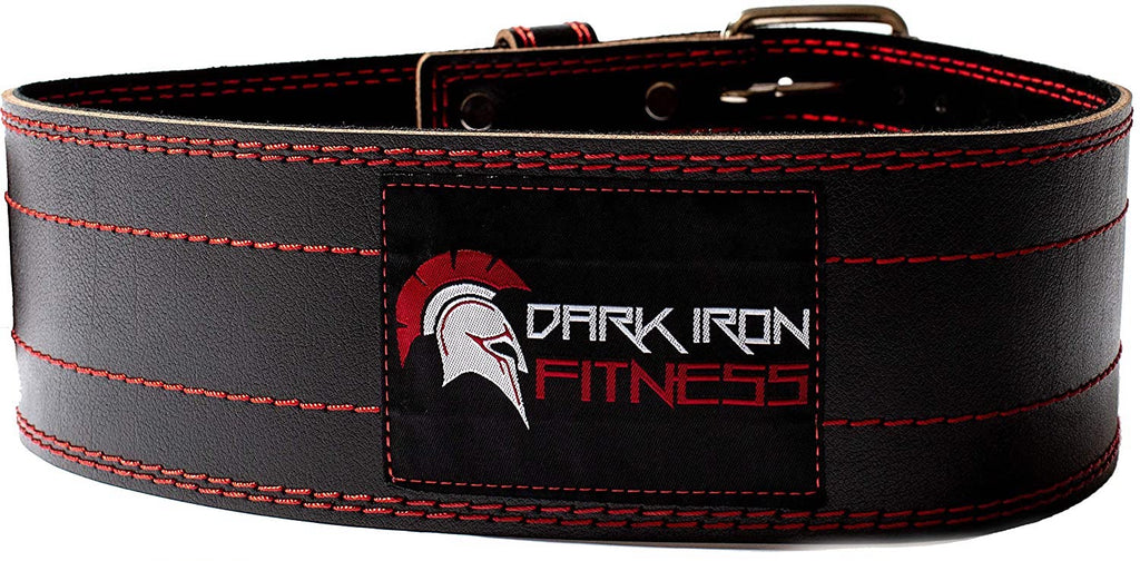 Dark Iron Fitness Leather Weightlifting Belt - Swolverine