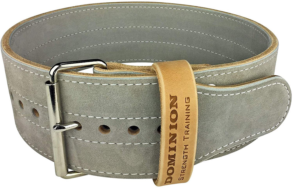Dominion Strength Training Leather Weightlifting Belt - Swolverine
