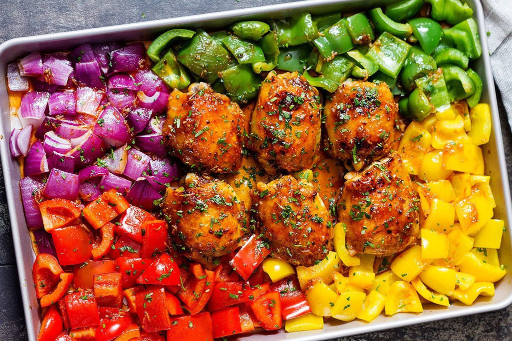 Honey Chicken Vegetable One Pan Dinner