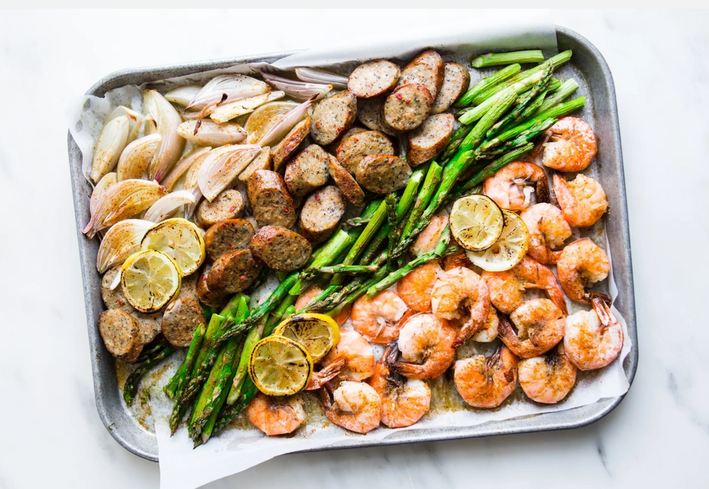 Old Bay Shrimp and Sausage Sheet Pan Dinner