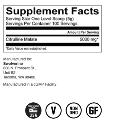 SWOLVERINE - CITRULLINE MALATE Facts