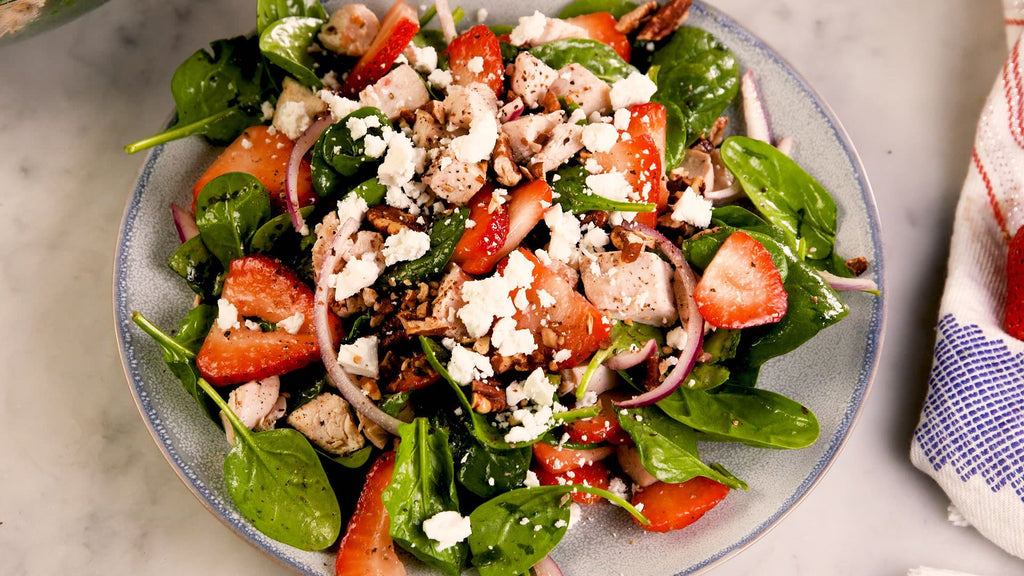Strawberry Spinach Salad Recipe - Swolverine