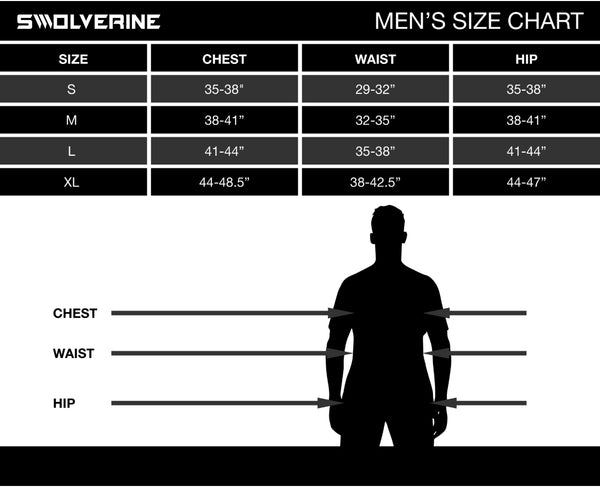 Swolverine - Size Chart