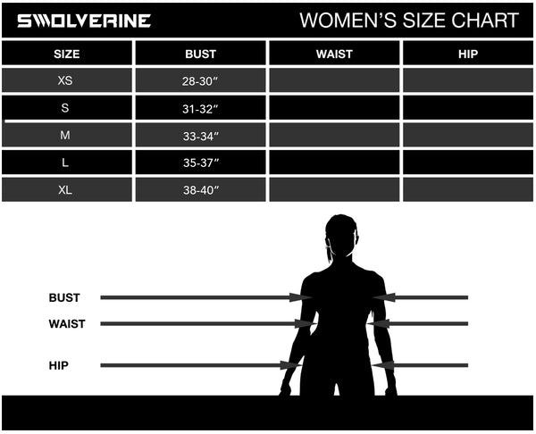 Swolverine - Womens Sizing Chart