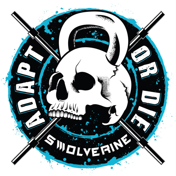 Adapt Or Die Skull Sticker
