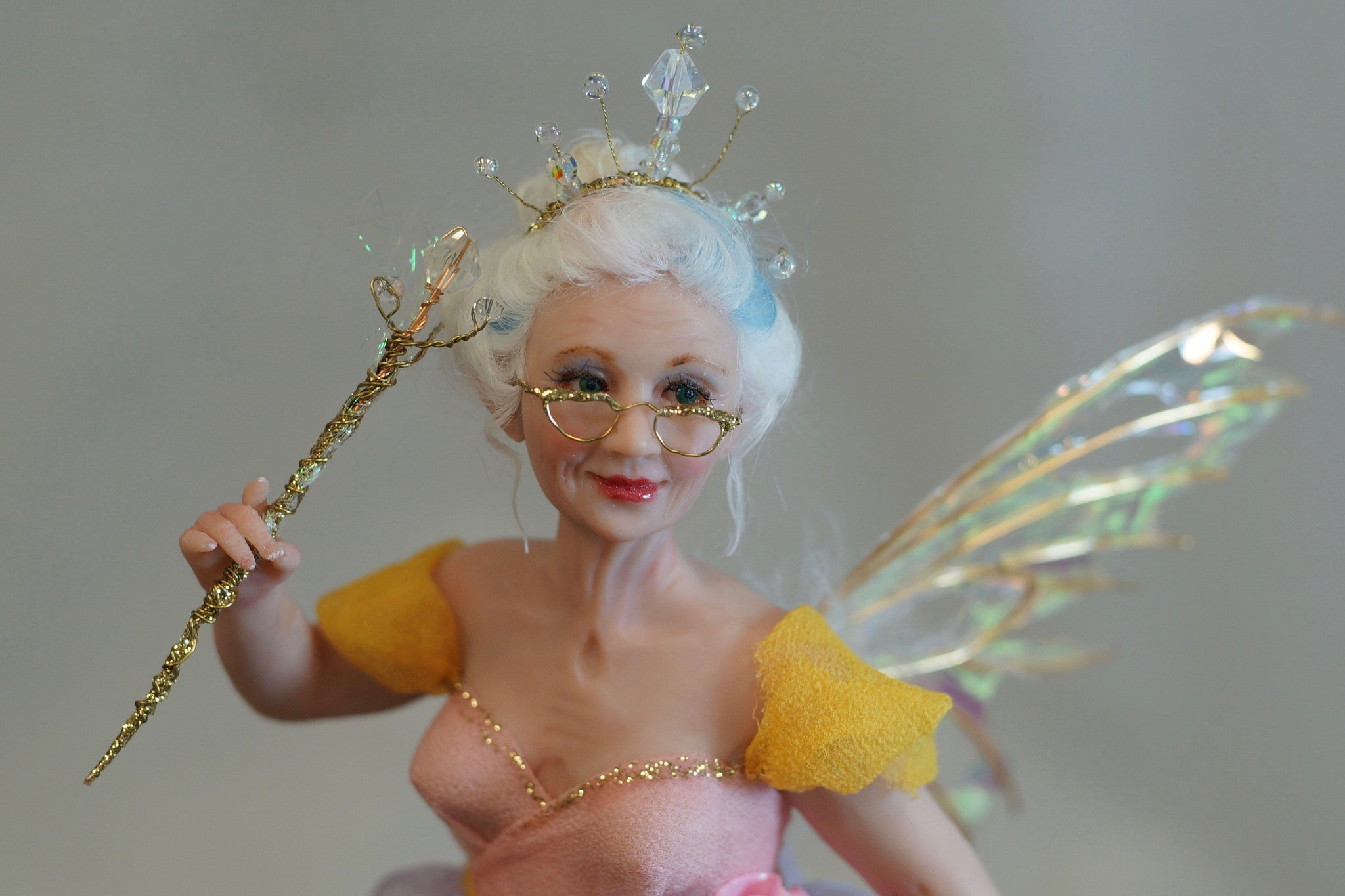 Fairy godmother by Deb Wood - Original Fixed Sculpt Fine Art Doll