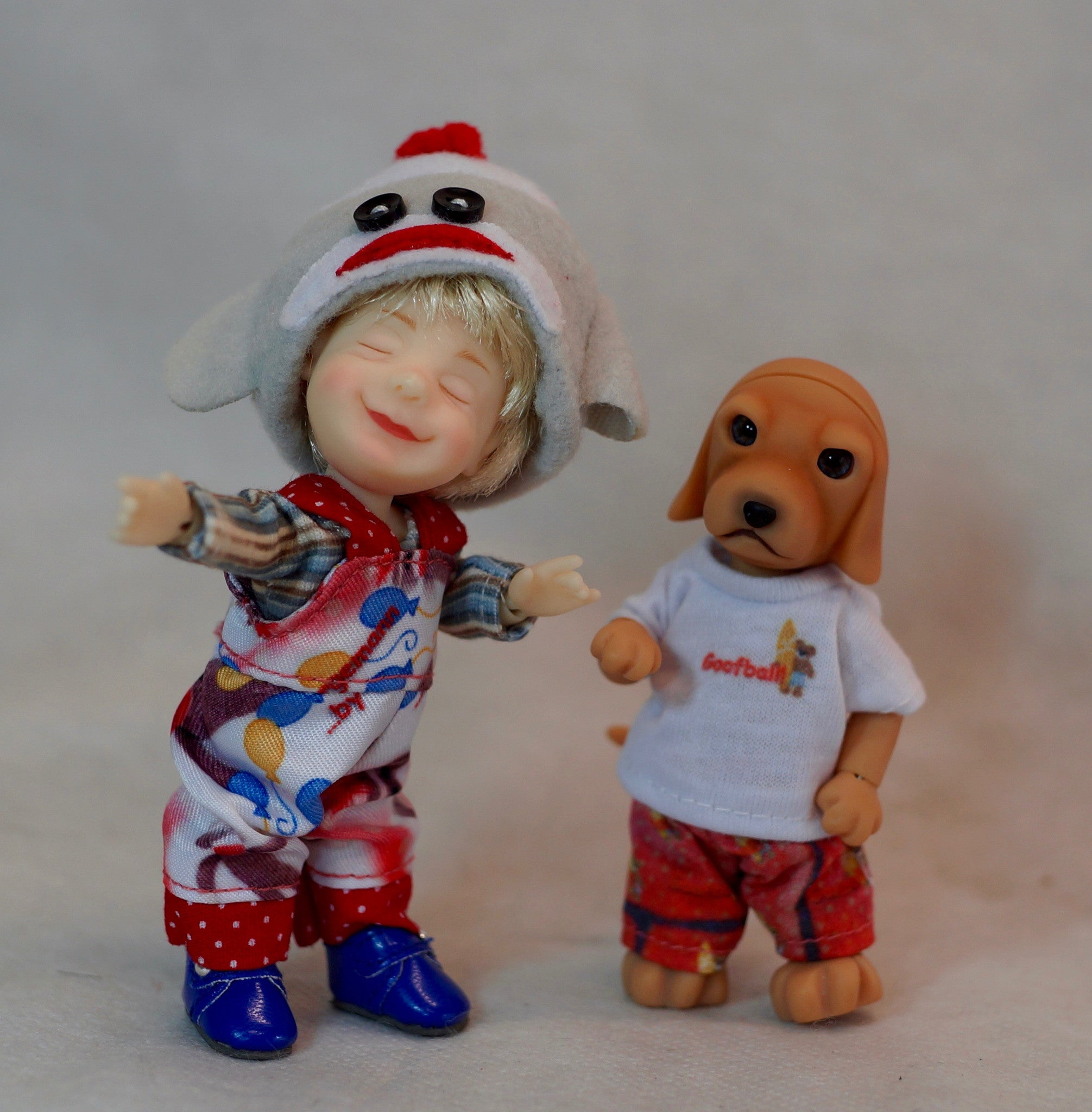 Giggle & Goofball Best Buds Collectible Micro BJD Set by Bo Bergemann