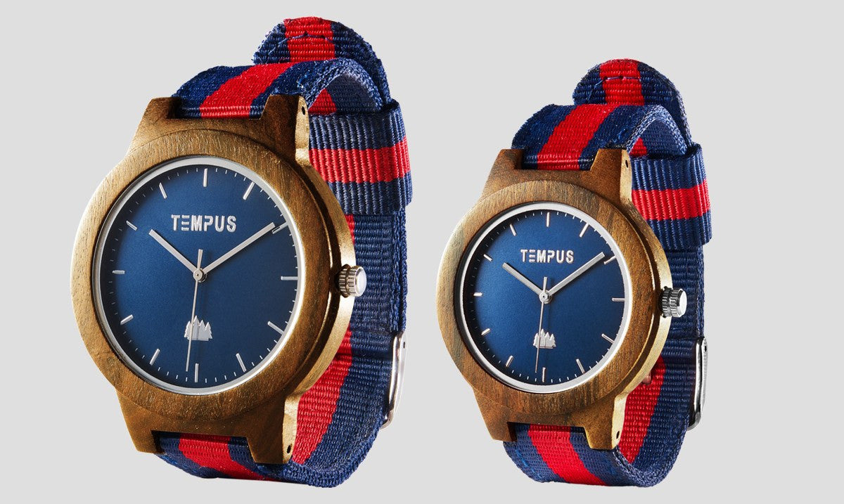 TEMPUS Willoughby | His and Hers Couple's Walnut Oxford Watch