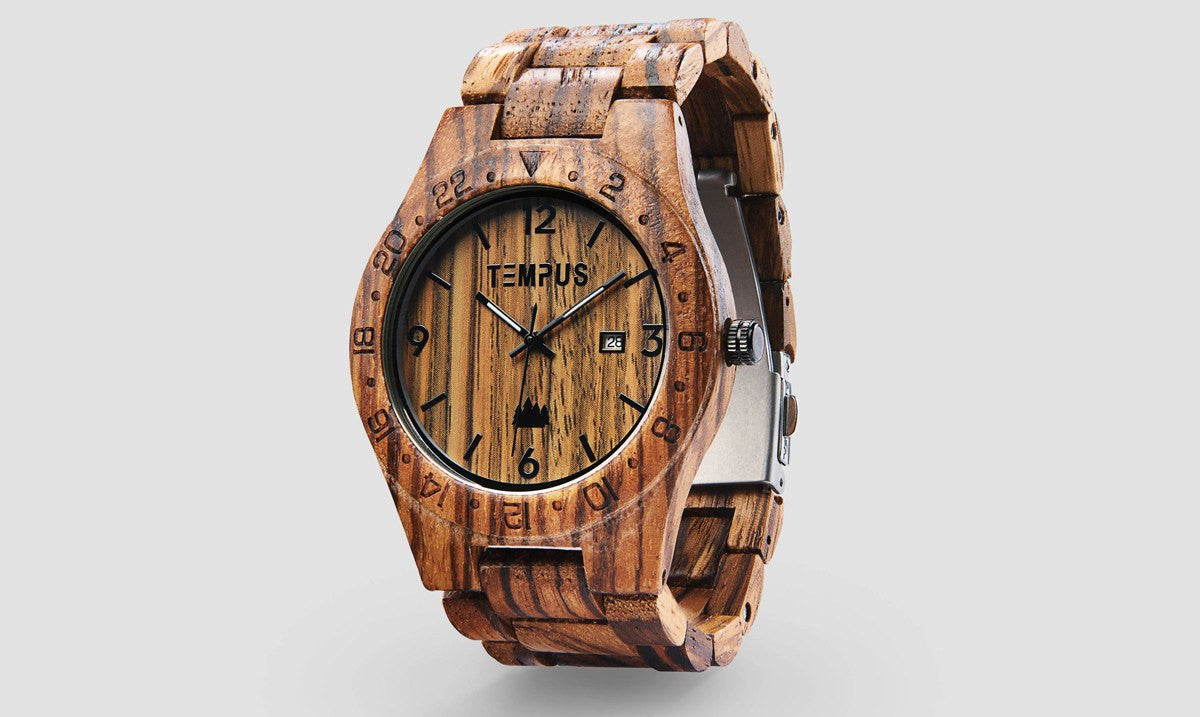 TEMPUS Afrikaans | Men's Zebrawood Watch
