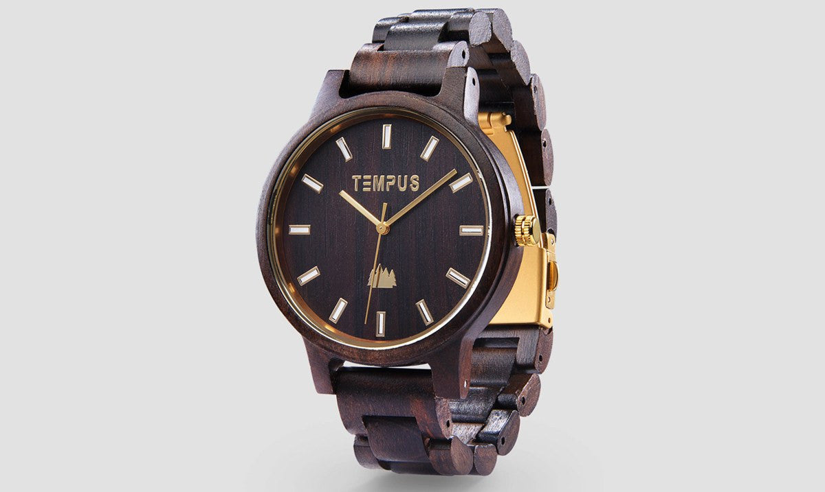 TEMPUS Classico | Men's Black Sandalwood Watch