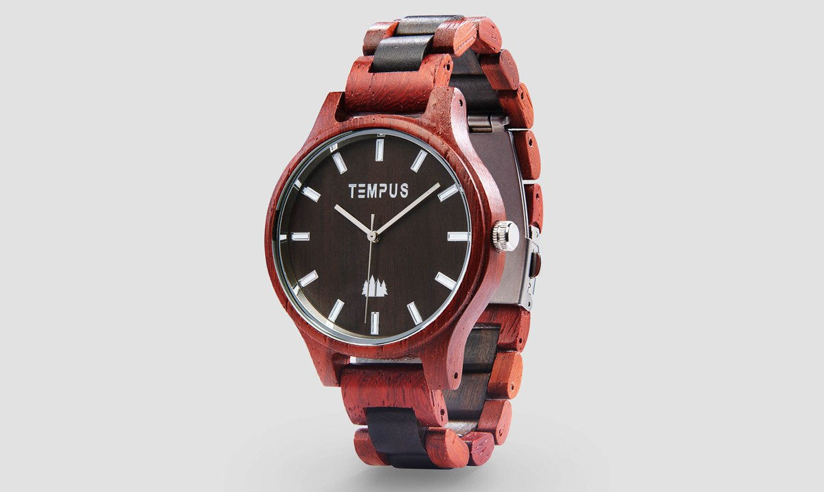 TEMPUS Classico | Men's Two-Tone Wood Watch