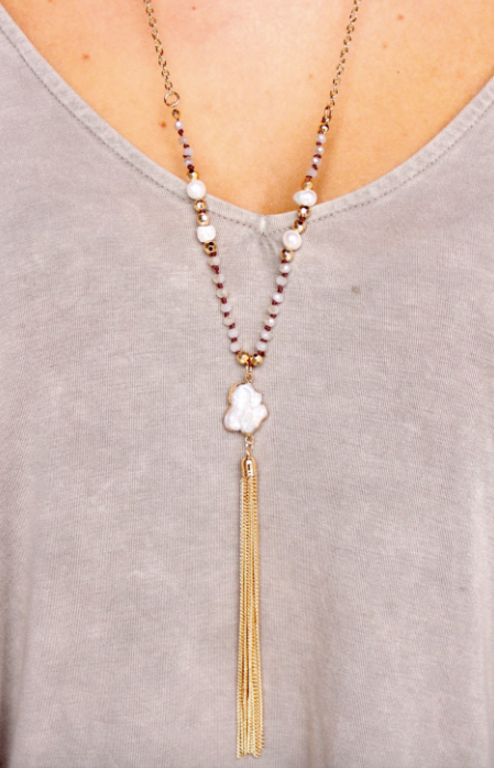 Bosworth Pearl Tassel Necklace