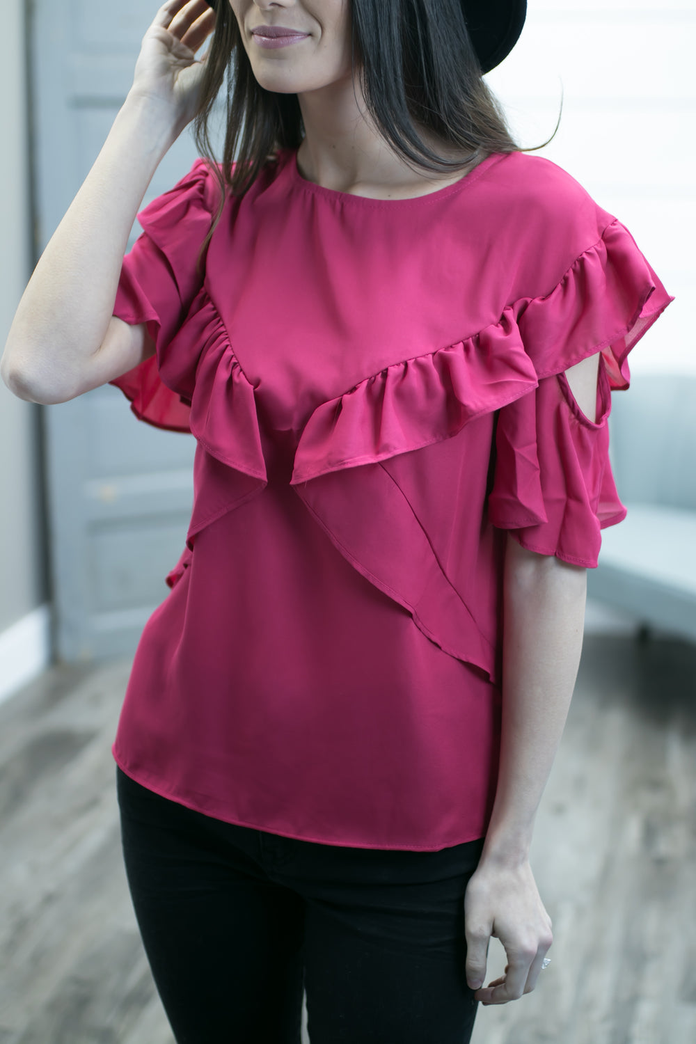 This Ones A Heartbreaker Top - Fuchsia