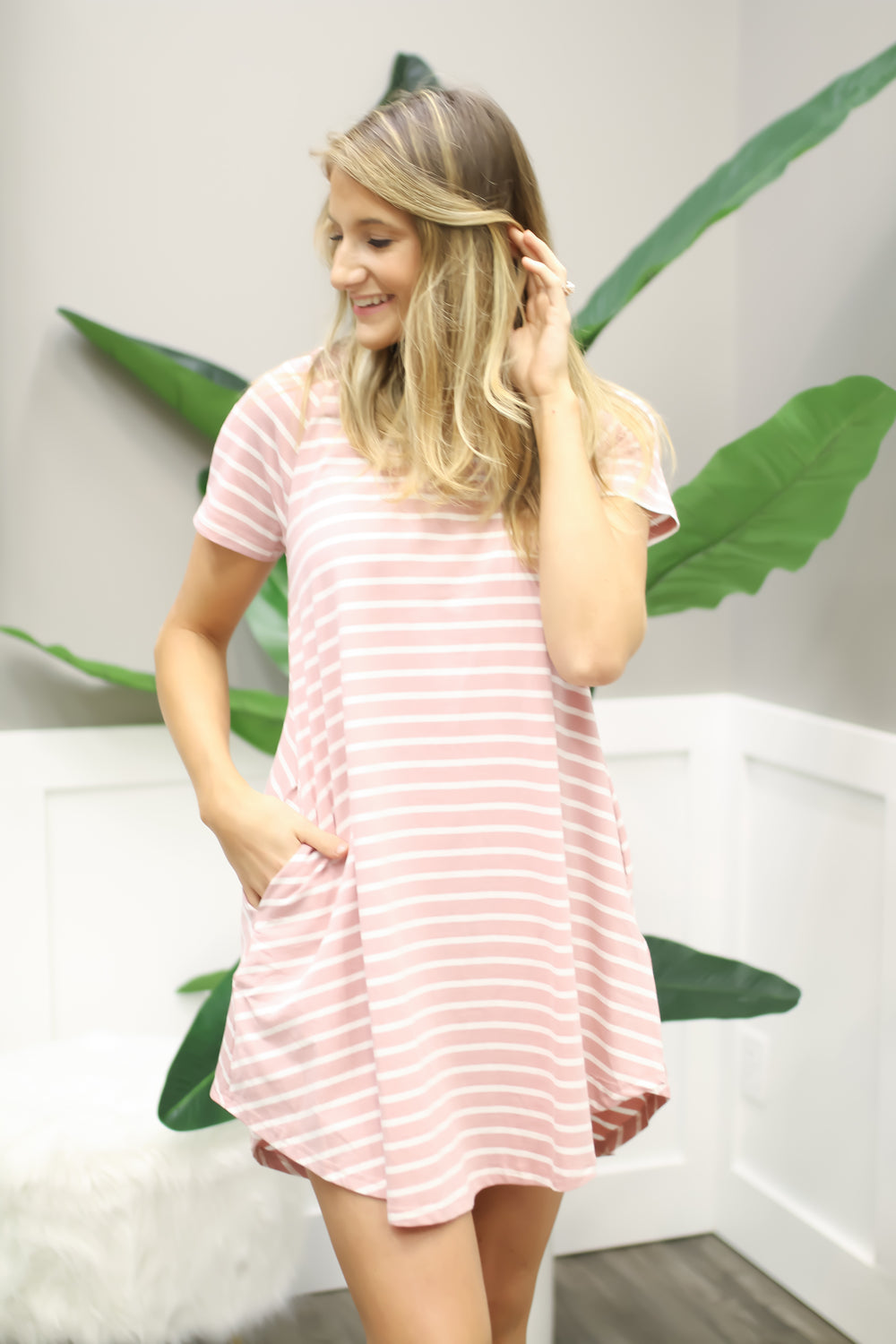 Think Pink Swing Dress