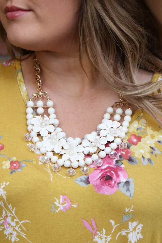 Ivory Flower Necklace