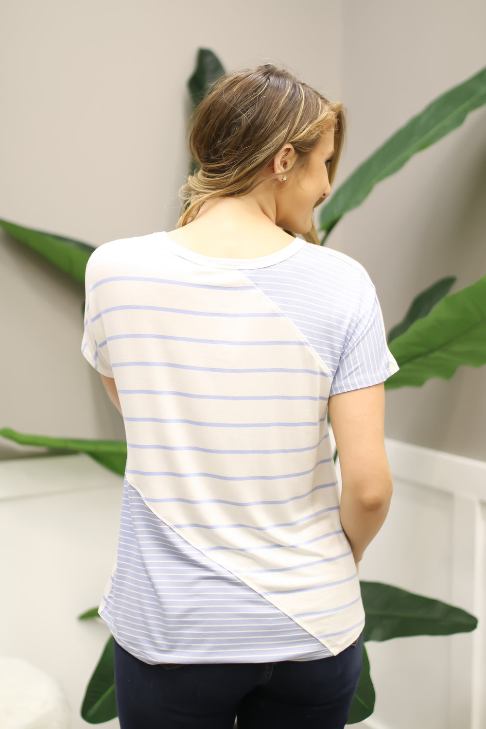Just My Stripe Top - Blue