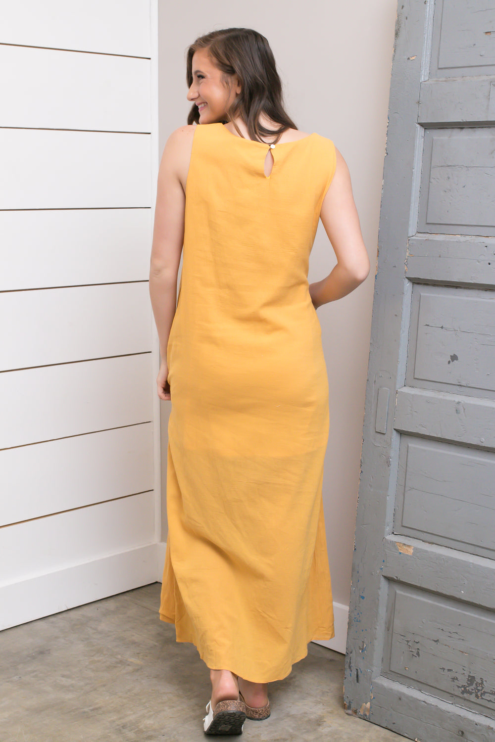 Mustard Layered Maxi Dress