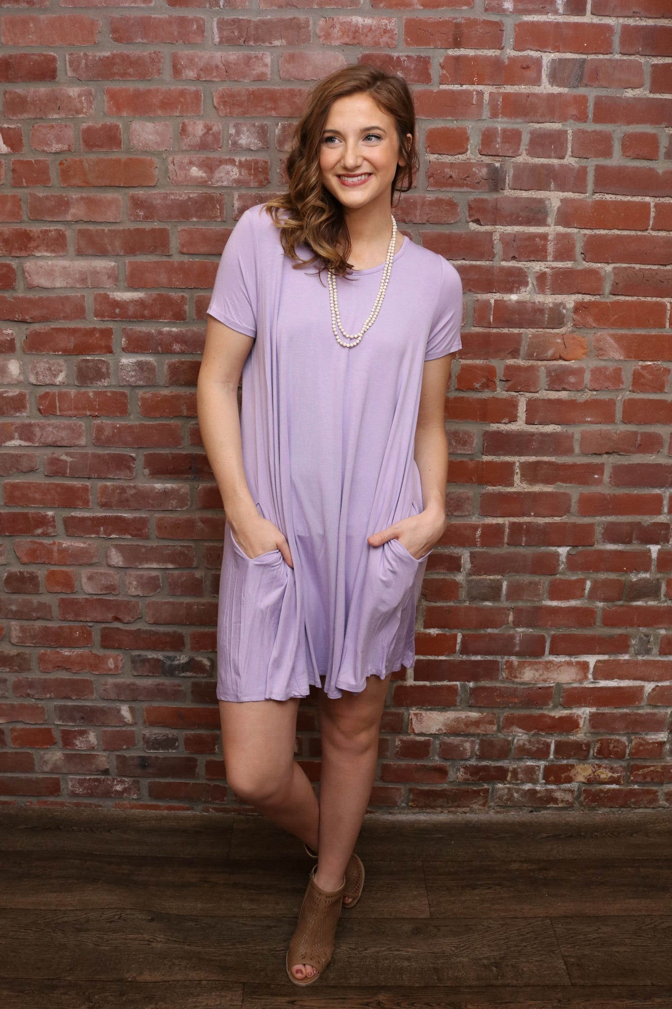 Basic Swing Dress W/Pockets