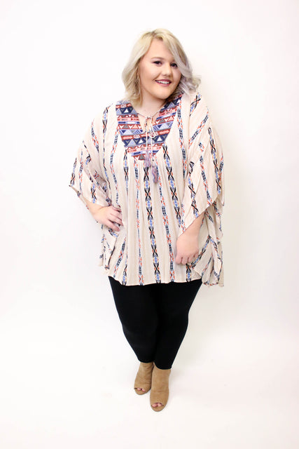 Taupe Mix Printed Tunic