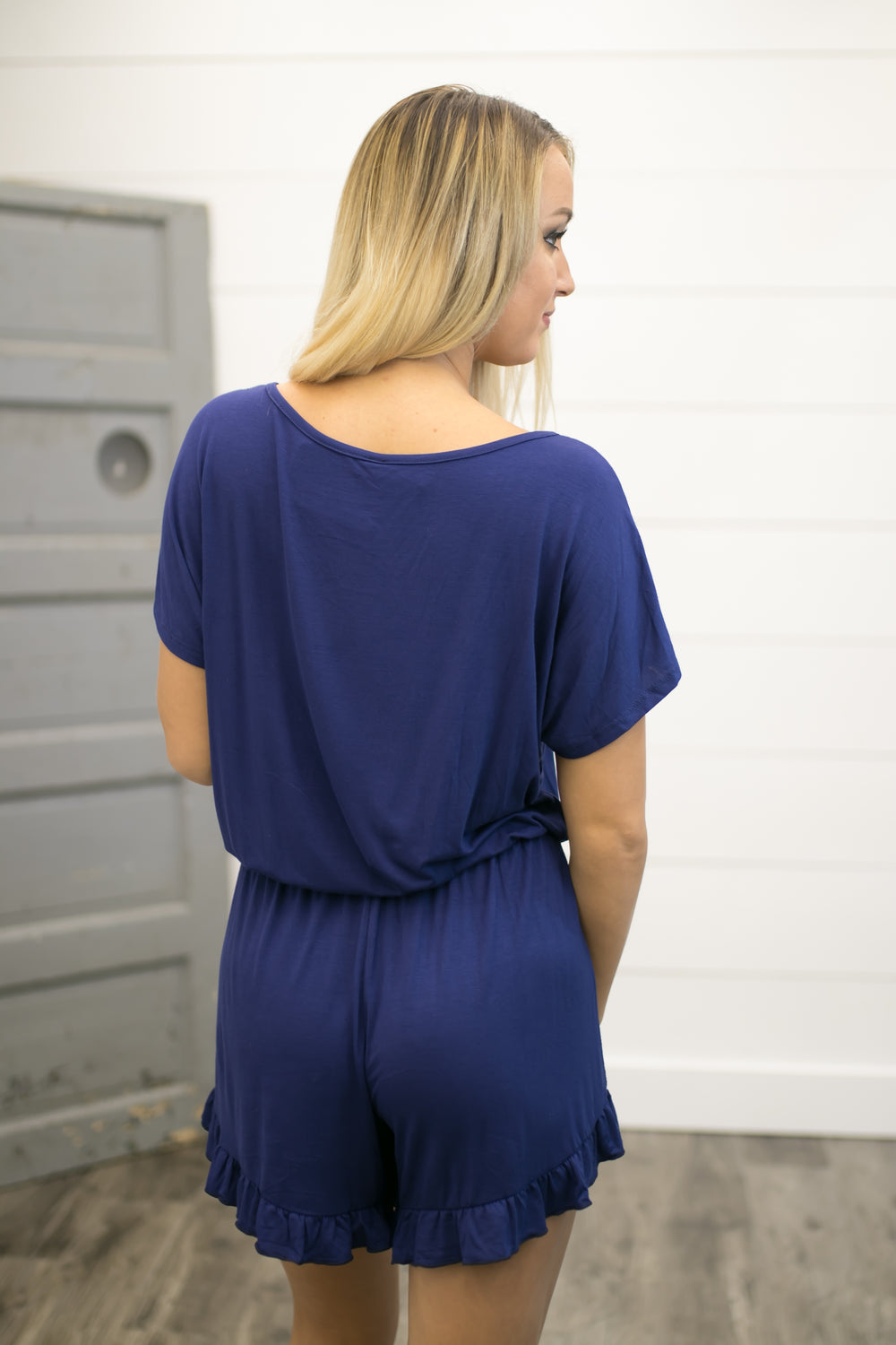 Bold Statement Romper - Navy