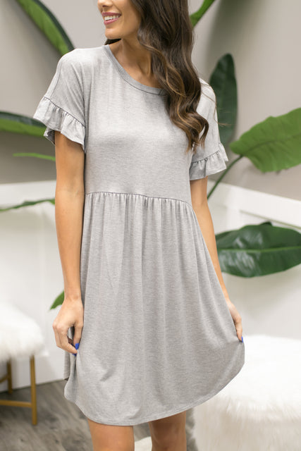 Sage Textured Babydoll Dress