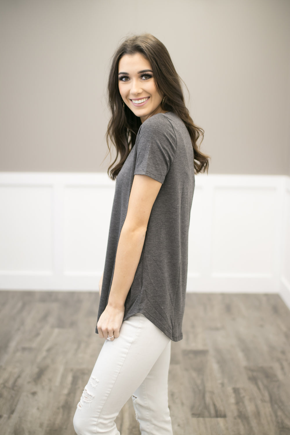 Cloudy Day Casual Top