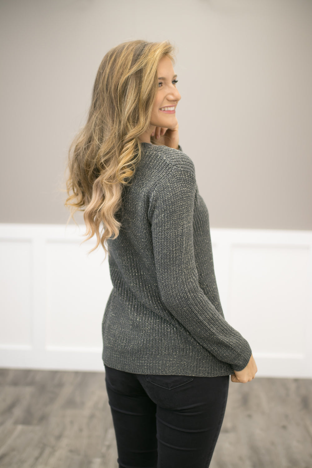 First Snow Pullover Top - Olive