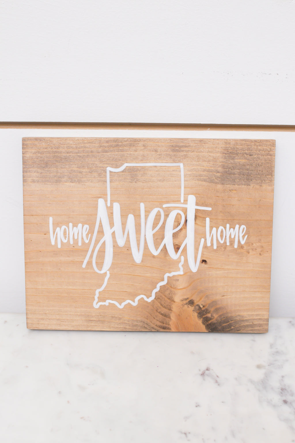 Medium Indiana Home Sign