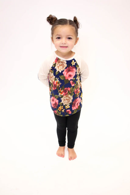 Floral Long Sleeve W/ Elbow Patch