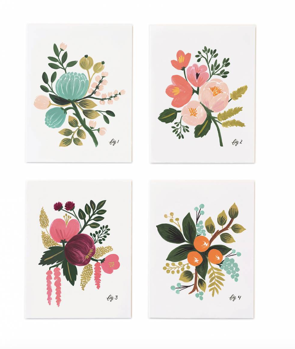 Assorted Botanical Greeting Cards