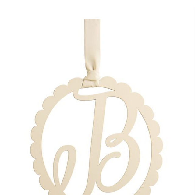 Scalloped Initial Wall Hanger