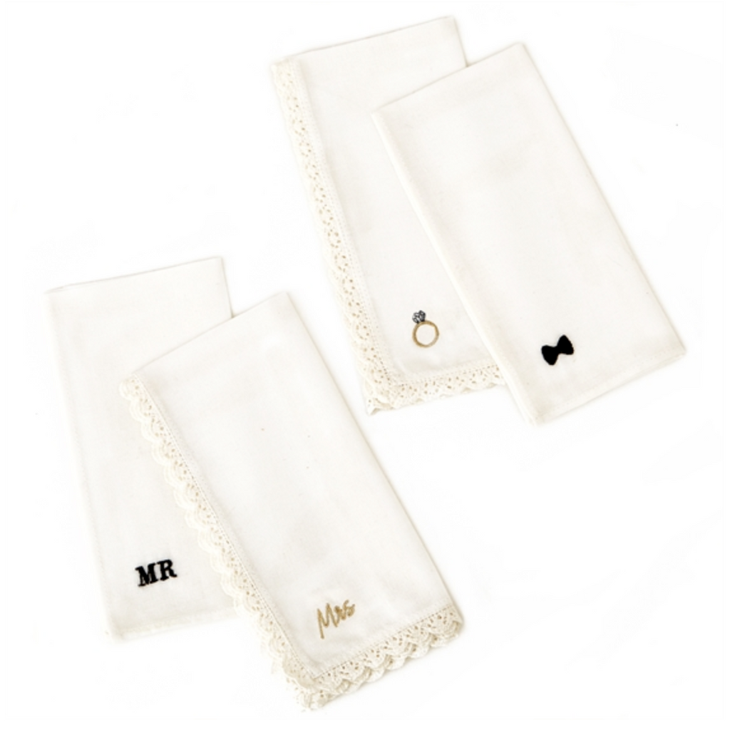 Bride/Groom Handkerchiefs