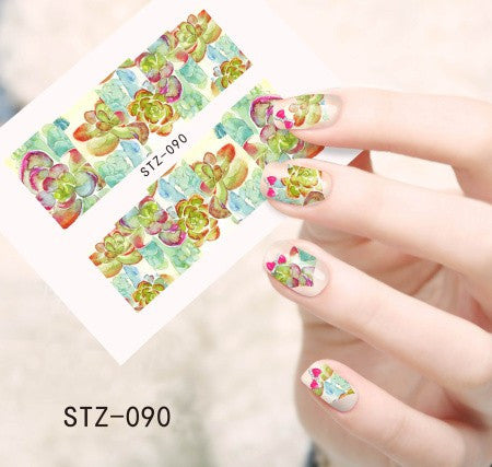 50pcs Hot New Flower Stickers DIY Full Tips Decals - nailsugar