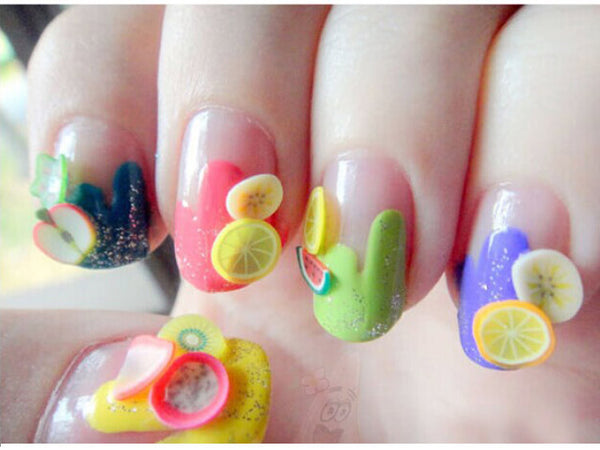 3D Nail Sticker Decorations - Fruits, Feathers  or Mixed - nailsugar