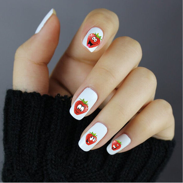 Cute Strawberry Nail Art Stickers