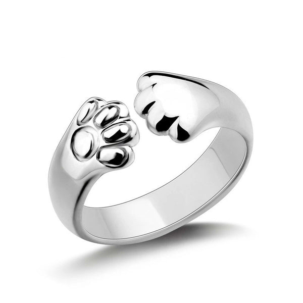 Adjustable Kitty Paw Ring