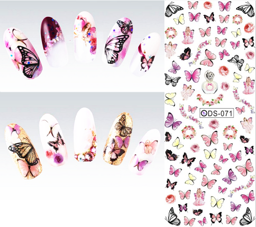 Butterfly Water Transfer Nails Stickers