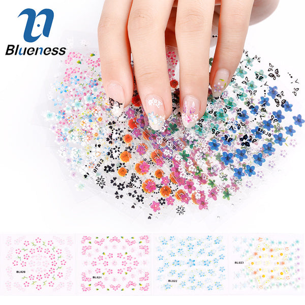 30 Sheets 3D Floral Nail Art Sticker