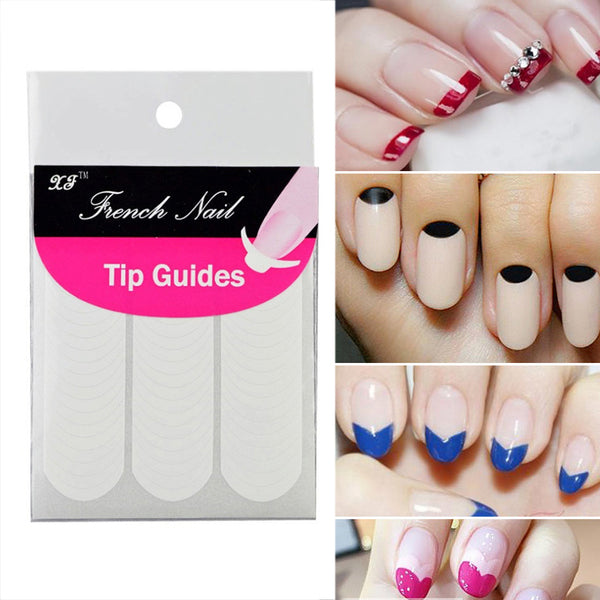 16 Sheets French Manicure Tape Guides