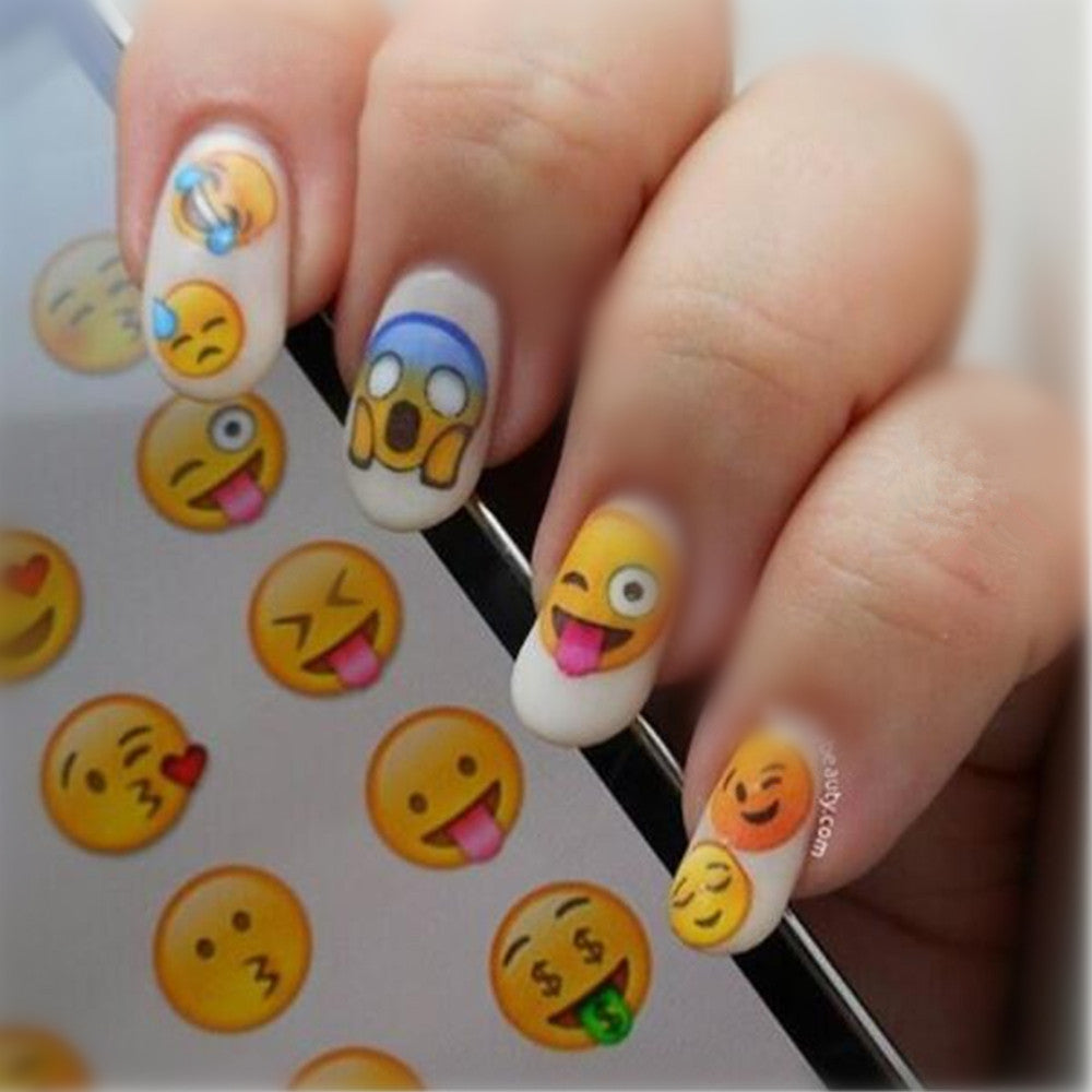 NICOLE DIARY Nail Art Water Decals Various Expression Patterns Stickers Water Transfer Nail Art Tattoo 25967 - nailsugar