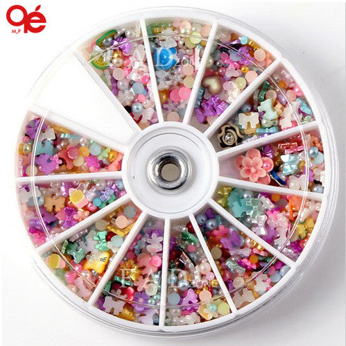 Big 3D Nail Art Decoration Random Designs Tools Sticker Nail Accessories - nailsugar