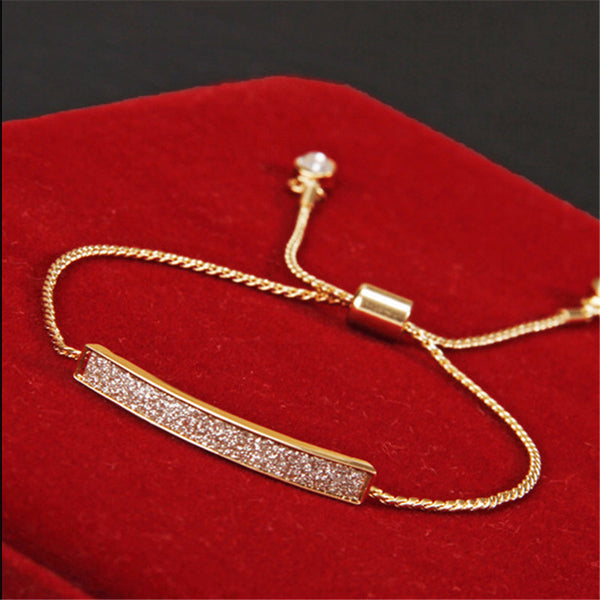 Unique CZ Diamond Micro Pave Fashion Bracelets & Bangles 18K Gold Plated Crystal Jewelry SL-177 - nailsugar
