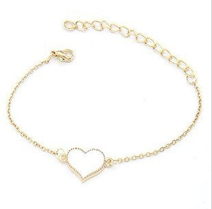 YANA Jewelry Sale Good Quality 3 Colors Heart Bracelet Free Shipping - nailsugar