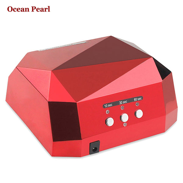36W UV Lamp LED Ultraviolet Lamp UV Nail Dryer Nail Lamp Diamond Shaped CCFL Cure  UV Gel Nails Polish Nail Art Tools-1006 - nailsugar