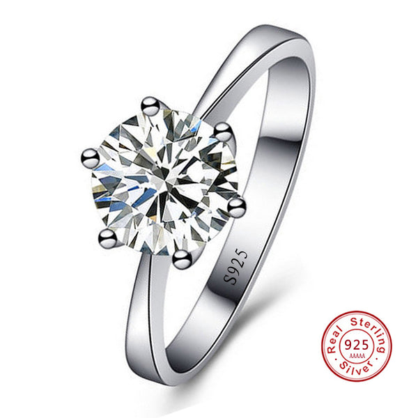 2 CT 5A CZ Solitaire Engagement Ring :: BEST SELLER!