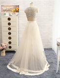 Trendy 2-Piece Bohemian Style Dazzling Beach Wedding Gown – Plus Size up to 26W