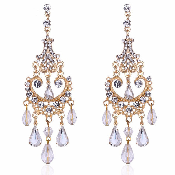 Boho Style 2-Tone Chandelier Earrings
