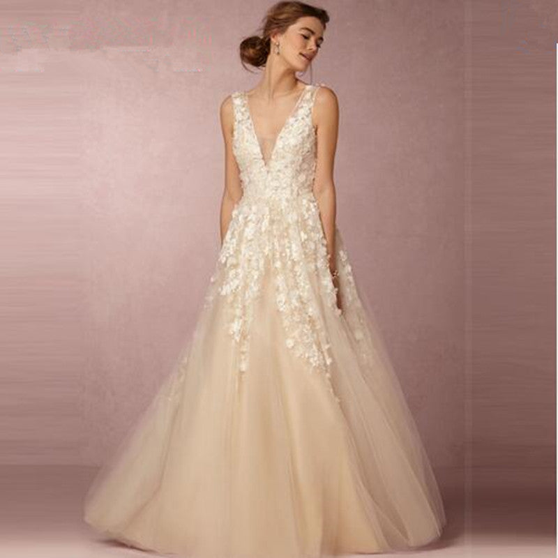 SAMPLE - Inspired By The BHLDN Ariane 3D Floral Wedding Gown. – The ...