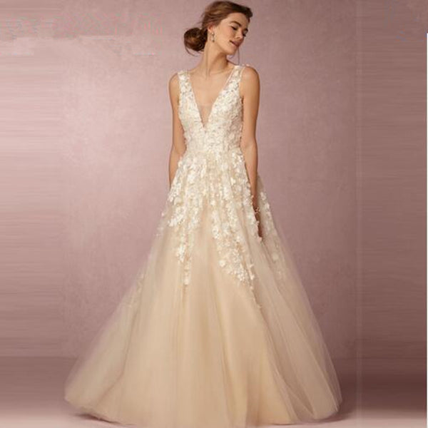 SAMPLE - Inspired By The BHLDN Ariane 3D Floral Wedding Gown.
