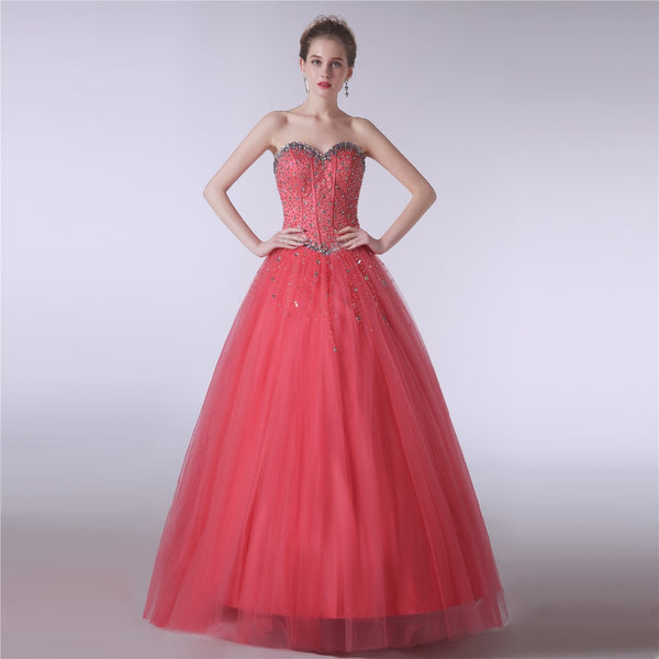 Style 4313 - Watermelon Princess Crystal Evening/Prom Dress - Avail up to Size 26W